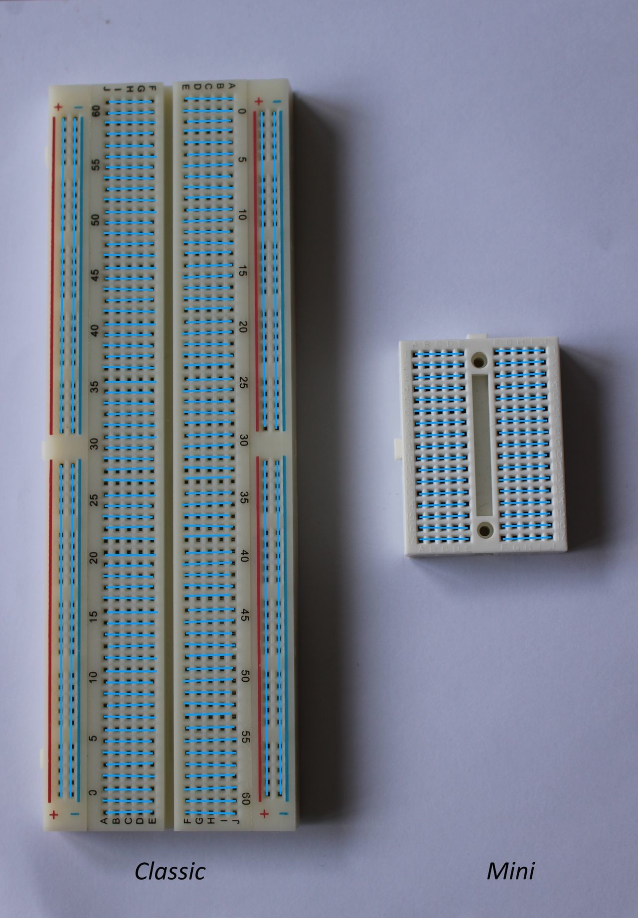 Classic breadboard connections