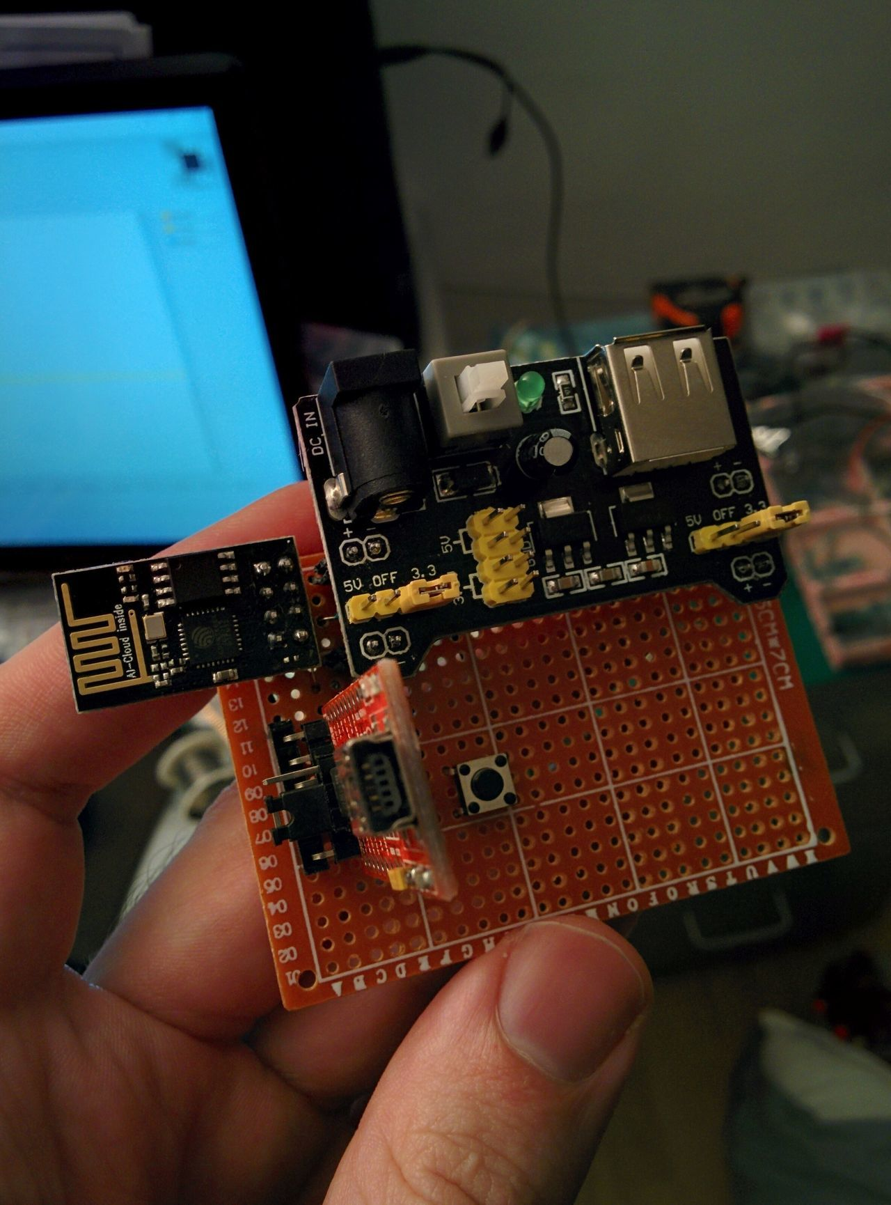 Perfboard with ESP01