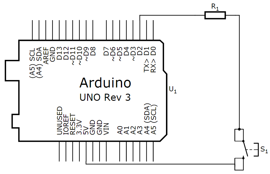 Arduino switch without pulldown circuit