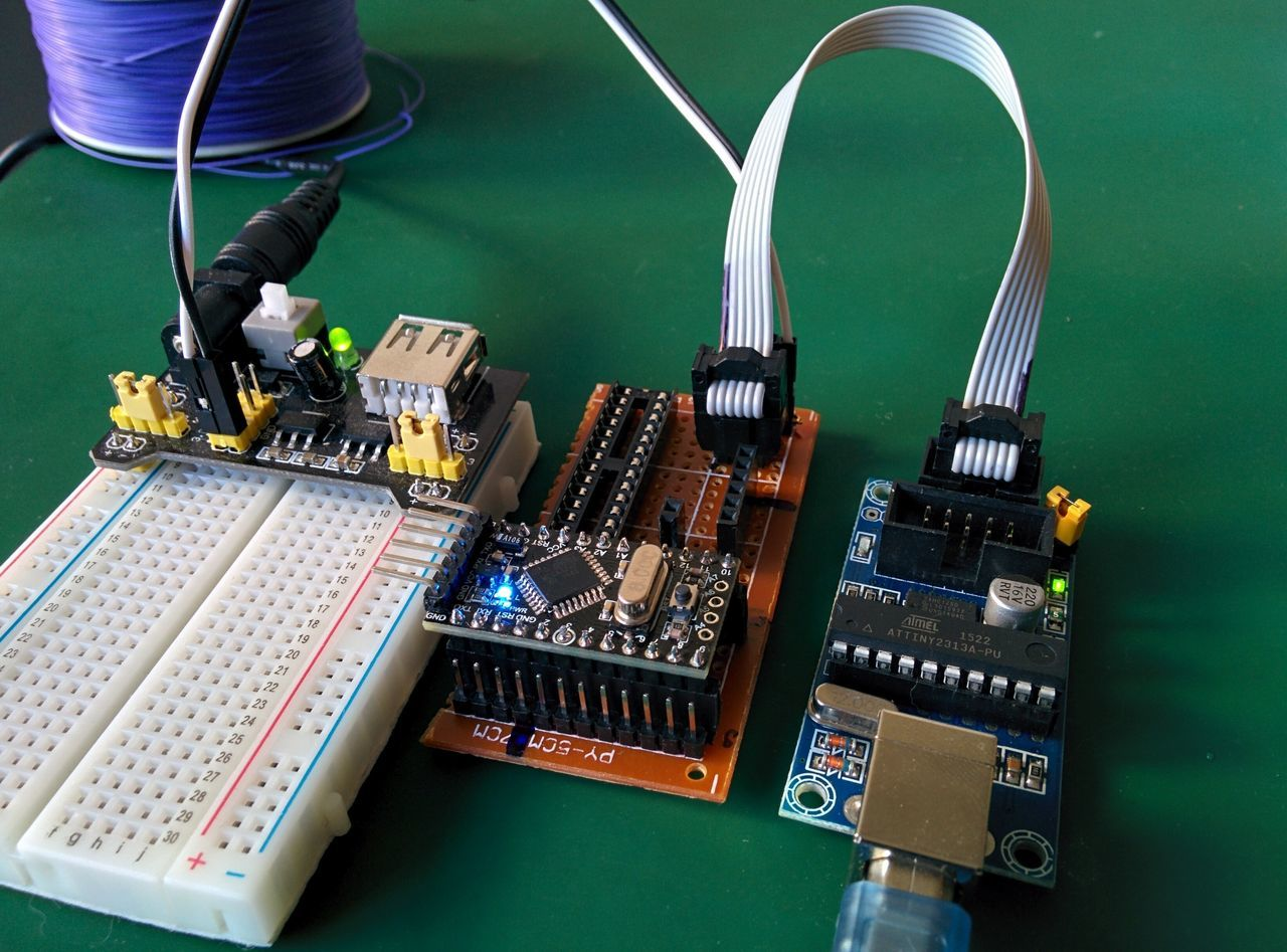 Flashing Arduino pro mini bootloader through ISP