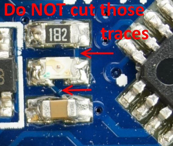 Arduino Pro Mini: do not cut !!