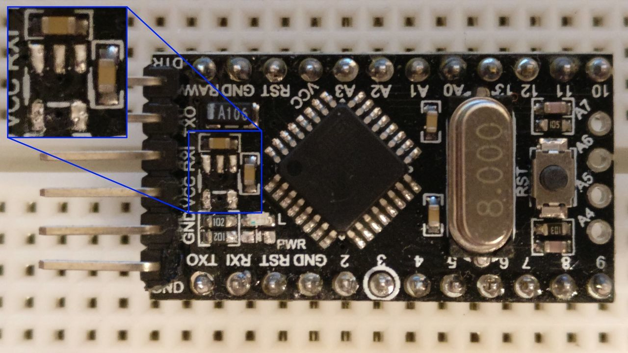 Arduino pro mini power consumption