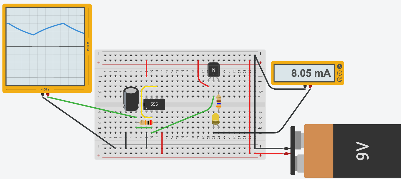 Led Pulse With 555 on simple circuit schematics