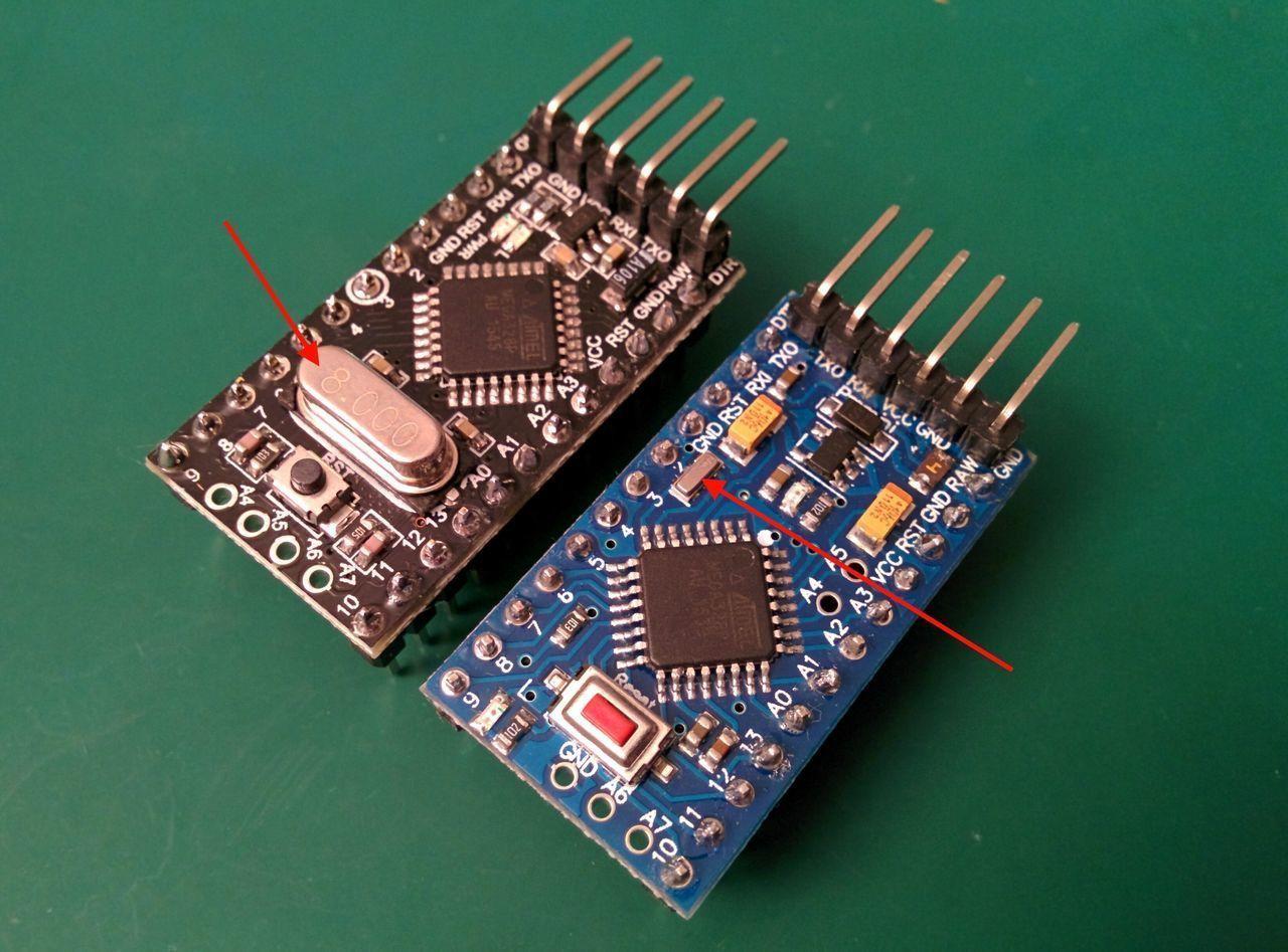 Arduino pro mini @ 1MHz - 1 8V