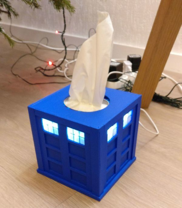 Audio player [2]: Tardis tissue box cover